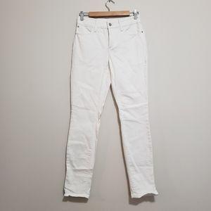 NYDJ skinny boyfriend white jeans 4 nwot